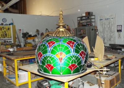 Finished small dome