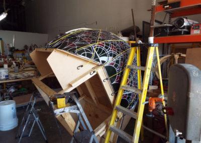 Rotation of globe for soldering