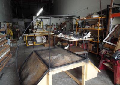 "Metal frame handmade from 1/2"" tubing"