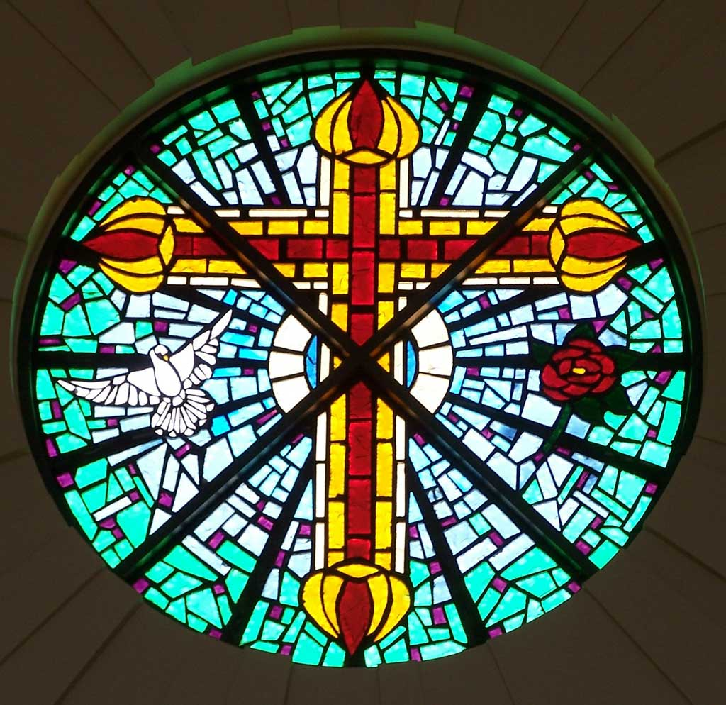 Vista ridge baptist church trimble studios for Rose window design